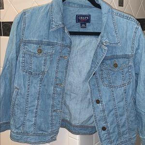 Light Wash Chaps Denim Jacket